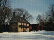 Quaker Art - William Brinton House 1704 by Gordon Beck
