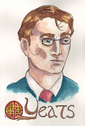 Knot Paintings - William Butler Yeats by Whitney Morton