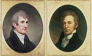 Expedition Framed Prints - William Clark 1770-1838 And Meriwether Framed Print by Everett