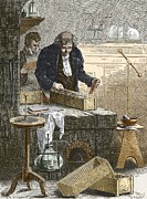 Cruikshank Posters - William Cruikshank, English Chemist Poster by Sheila Terry