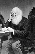 Bryant Art - William Cullen Bryant, American Poet by Photo Researchers
