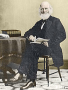 Bryant Metal Prints - William Cullen Bryant, American Poet Metal Print by Science Source