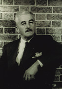 Suit And Tie Framed Prints - William Faulkner, Portrait By Carl Van Framed Print by Everett
