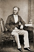 British Portraits Photo Prints - William Fothergill Cooke 1806-1879 Print by Everett