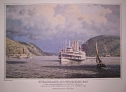 Towboat Framed Prints - William G Muller Artwork Hudson School Framed Print by Jake Hartz