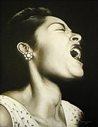 Billie Painting Originals - William Gottliebs Billie Holliday by Richard Klingbeil