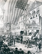 Whigs Prints - William Harrison Campaign Headquarters Print by Everett