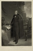 Menswear Posters - William Henry Harrison--late President Poster by Everett