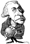 Caricature Portraits Posters - William Herschel, Caricature Poster by Gary Brown