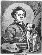 Painter And Dog Art - William Hogarth, British Artist by Middle Temple Library