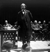 William Jennings Bryan Delivering Print by Everett