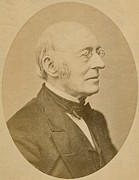 Anti-slavery Framed Prints - William Lloyd Garrison 1805-1879 Framed Print by Everett