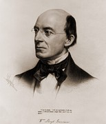 Racism Prints - William Lloyd Garrison 1805-1879 Joined Print by Everett