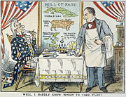 Menu Prints - WILLIAM McKINLEY CARTOON Print by Granger
