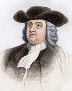 British Portraits Prints - William Penn, English Coloniser Print by Sheila Terry