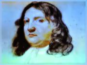 Quaker Digital Art Metal Prints - William Penn Portrait Metal Print by Bill Cannon