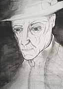 Author Mixed Media Metal Prints - William S. Burroughs Metal Print by Darkest Artist