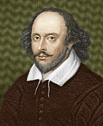 Sonnet Framed Prints - William Shakespeare, English Playwright Framed Print by Sheila Terry