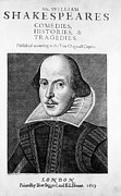 1564-1616 Prints - William Shakespeare, English Poet Print by Omikron
