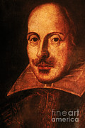 1564-1616 Posters - William Shakespeare, English Poet Poster by Photo Researchers, Inc.