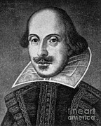 1564-1616 Prints - William Shakespeare, English Poet Print by Photo Researchers