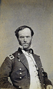 Sideburns Photo Framed Prints - William Tecumseh Sherman Framed Print by Granger