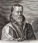 Printed Prints - William Tyndale, English Scholar Print by Middle Temple Library