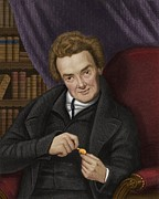 Abolitionist Metal Prints - William Wilberforce, British Abolitionist Metal Print by Maria Platt-evans