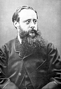 Novelist Framed Prints - WILLIAM WILKIE COLLINS (1824-1889). English novelist. Photographed in 1865 Framed Print by Granger
