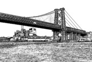 East River Framed Prints - Williamsburg Bridge 1.1 - New York Framed Print by Frank Mari