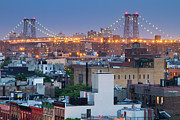 Williamsburg Prints - Williamsburg Bridge From East Village Print by Ryan D. Budhu