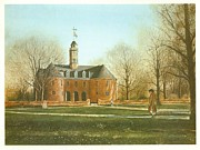 Brick Paintings - Williamsburg Capital by Charles Roy Smith
