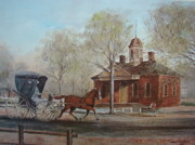 Brick Paintings - Williamsburg Courthouse by Charles Roy Smith