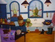 Williamsburg Prints - Williamsburg Kitchen Print by Beverly Hanni