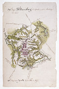 Plan Prints - Williamsburg: Map, 1781 Print by Granger