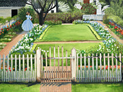 Williamsburg Prints - Williamsburg Spring Garden Print by Gail Darnell