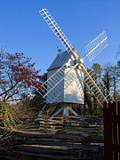 Williamsburg Prints - Williamsburg Windmill Print by Sally Weigand