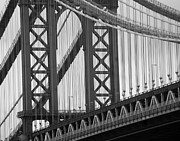 Williamsburg Prints - Williamsburgbridge close up Print by Mike Lindwasser Photography