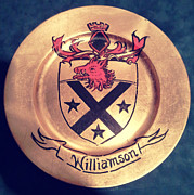 Coat Of Arms Paintings - Williamson Charger by Nancy Rutland