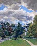 Abstract Realist Landscape Prints - Williamstown Cloudy Print by Thor Wickstrom