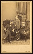 Cousins Framed Prints - Willie And Tad Lincoln With Cousin Framed Print by Everett