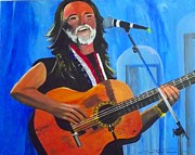 Willie Nelson Painting Originals - Willie Nelson by Jayne Kerr