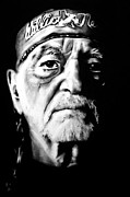 Willie Drawings - Willie Nelson by Brian Curran