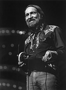 Award Framed Prints - Willie Nelson, Cma Entertainer Framed Print by Everett