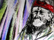 Willie Drawings - Willie Nelson by Jacob Smith
