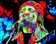 Willie Nelson Print by Mike OBrien