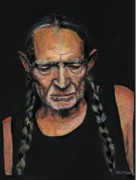 Hippie Painting Posters - Willie Poster by Sean David Jenkins
