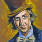 Movies Painting Originals - Willly Wonka by Buffalo Bonker