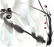 Sumi Ink Framed Prints - Willow Framed Print by Casey Shannon