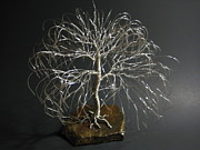 Nature Sculptures - Willow In Silver by Ken Phillips